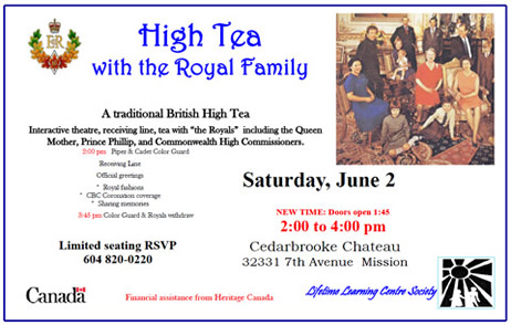 High Tea with the Royal Family